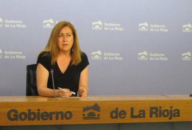Begoña Martínez Arregui en la rueda de prensa del Consejo de Gobierno