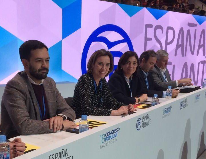 Cuca Gamarra en el Congreso del PP