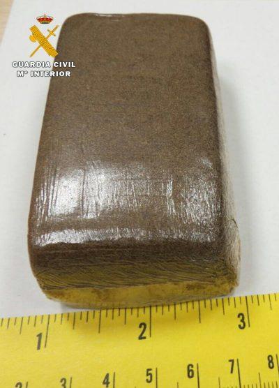Piedra de hachis intervenida