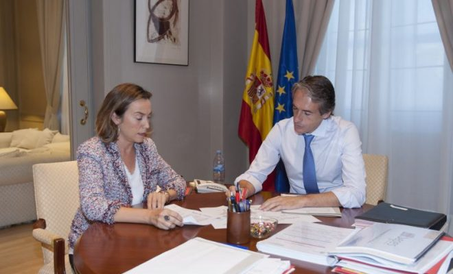 MINISTRO CON ALCALDESA DE LOGROÑO