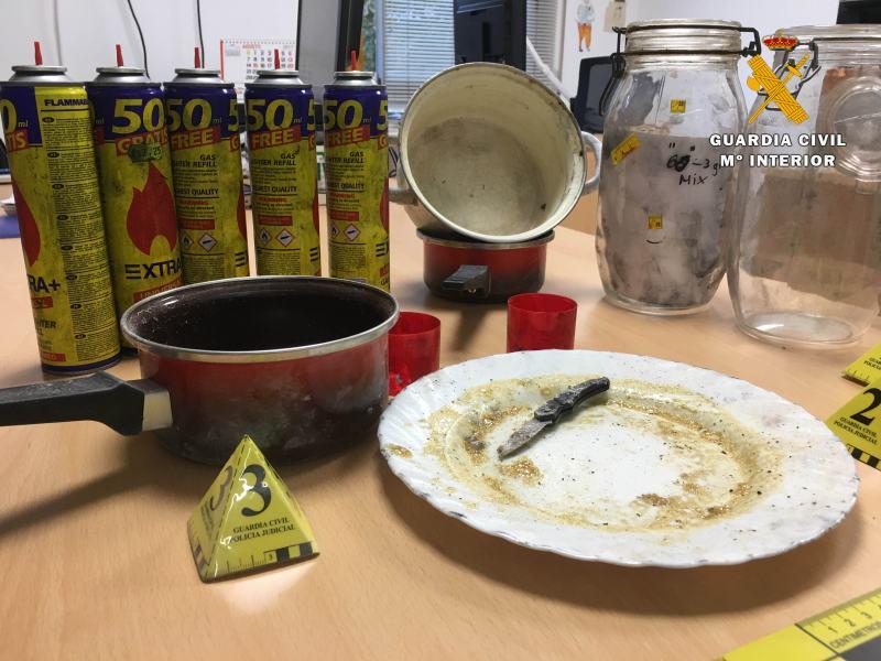 Utiles empleados extracion aceite