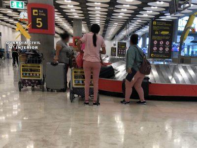 Llegada a T4 Madrid-jefa grupo y victimas